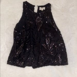 Everly sparkly top